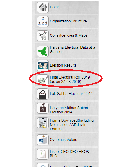 Haryana Voter List Check Your Name in Voter List