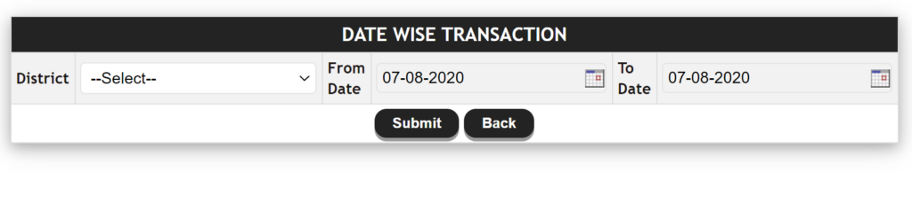 Date Wise Transaction