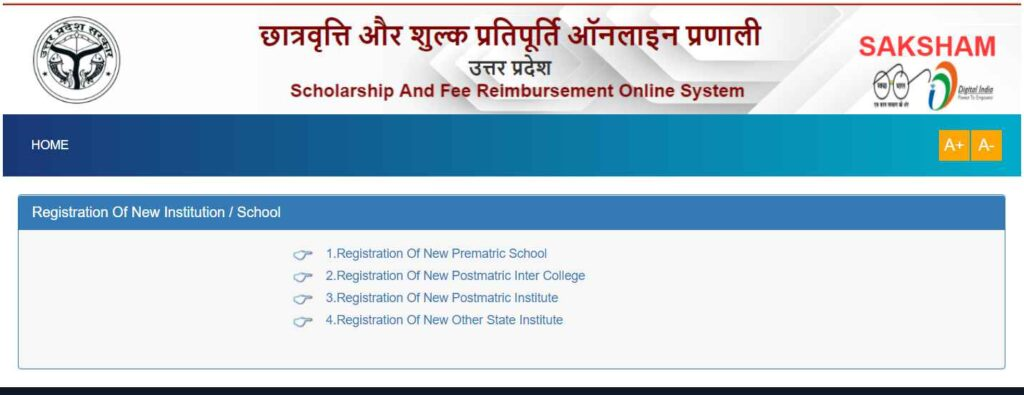 Institute Registration