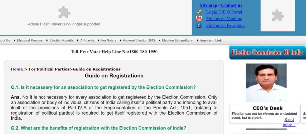 Political Party Registration Guide